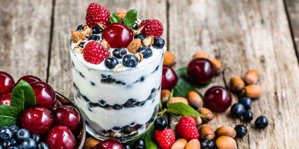yaourt et baies